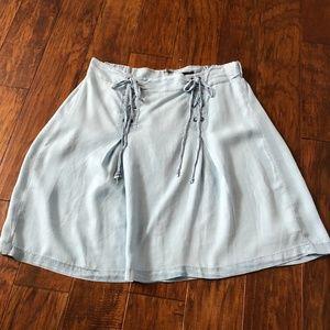 8f242b25dfe torrid Skirts - NWOT torrid Denim Lace Up Mini Skirt